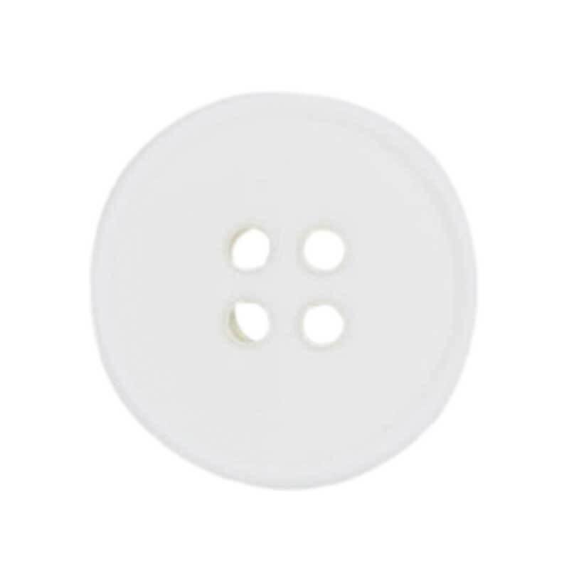Vierlochknopf - Ø 20 mm, weiß