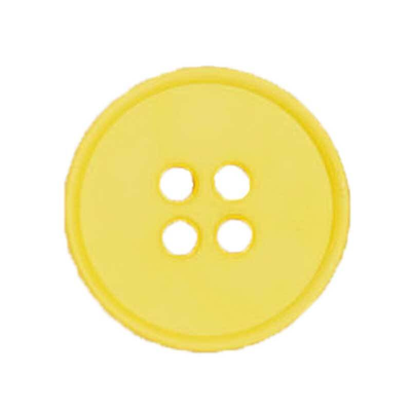 Vierlochknopf - Ø 20 mm, gelb