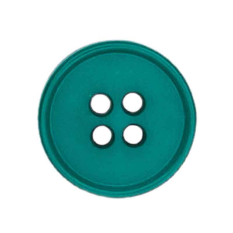 Vierlochknopf - Ø 20 mm, petrol