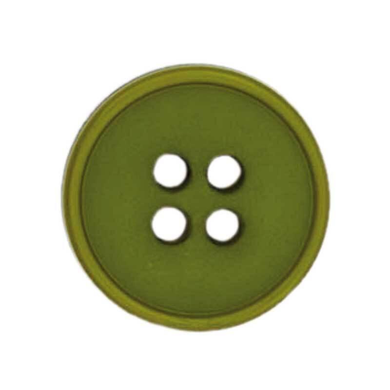 Vierlochknopf - Ø 20 mm, grün