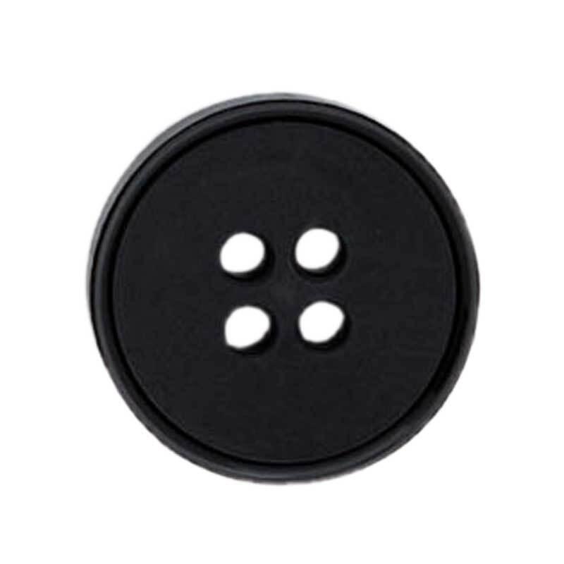 Vierlochknopf - Ø 20 mm, schwarz