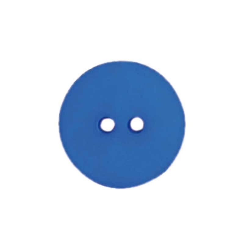 Boutons 2 trous - Ø 15 mm, bleu