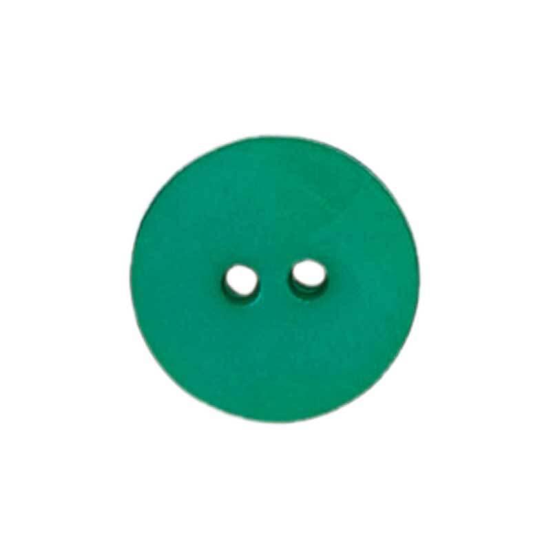 Zweilochknopf - Ø 15 mm, grün