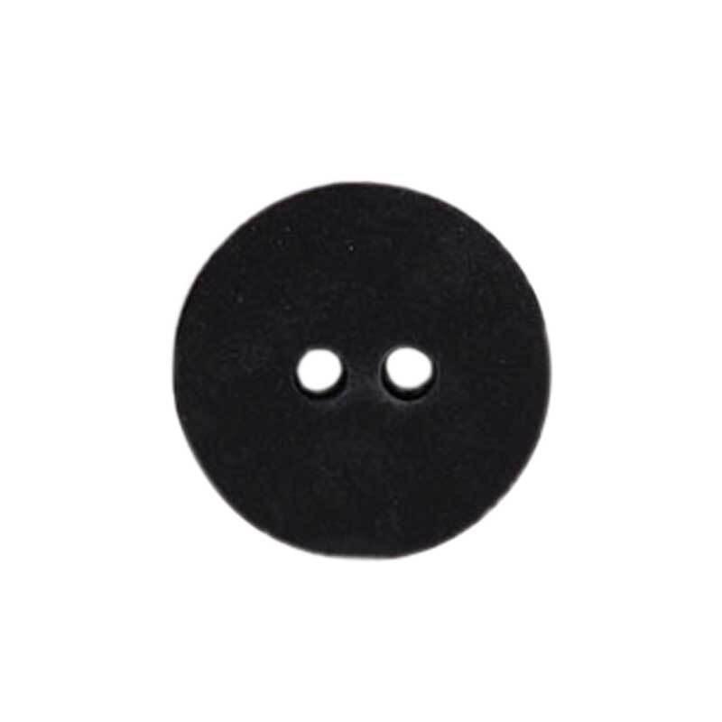 Zweilochknopf - Ø 15 mm, schwarz
