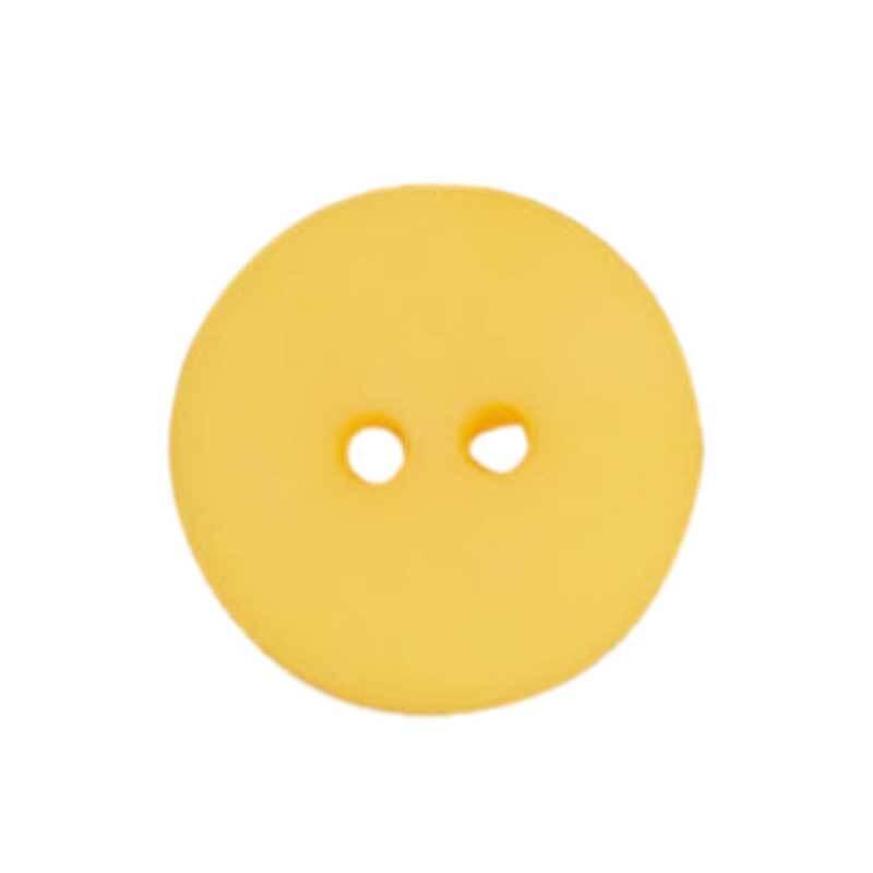 Zweilochknopf - Ø 18 mm, gelb