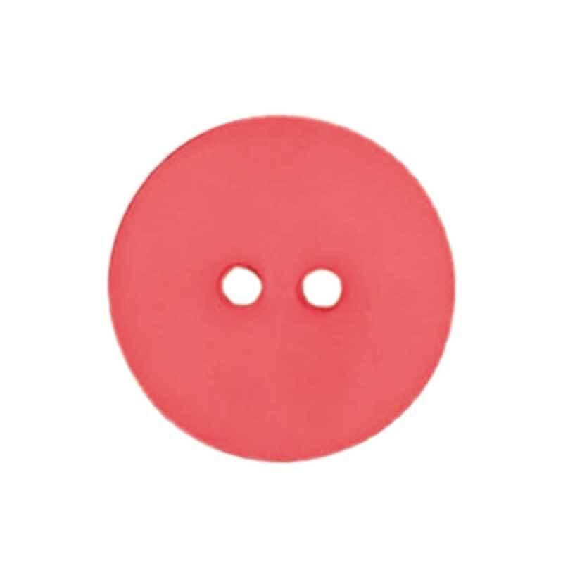 Knoop 2 gaten - Ø 18 mm, zuurstokroze