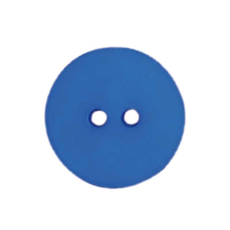 Knoop 2 gaten - Ø 18 mm, blauw