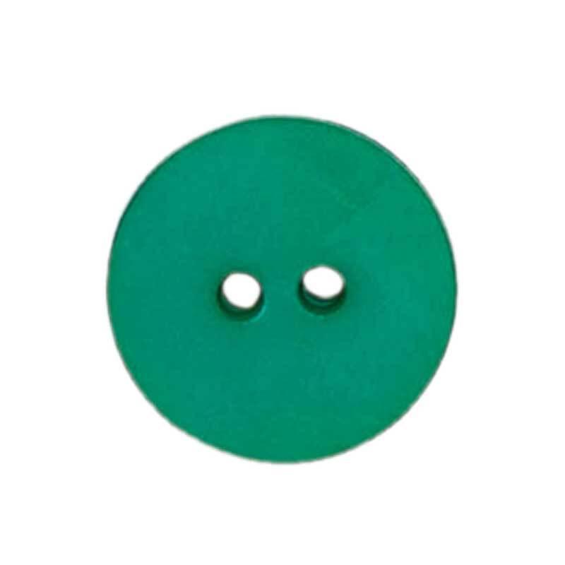 Zweilochknopf - Ø 18 mm, grün