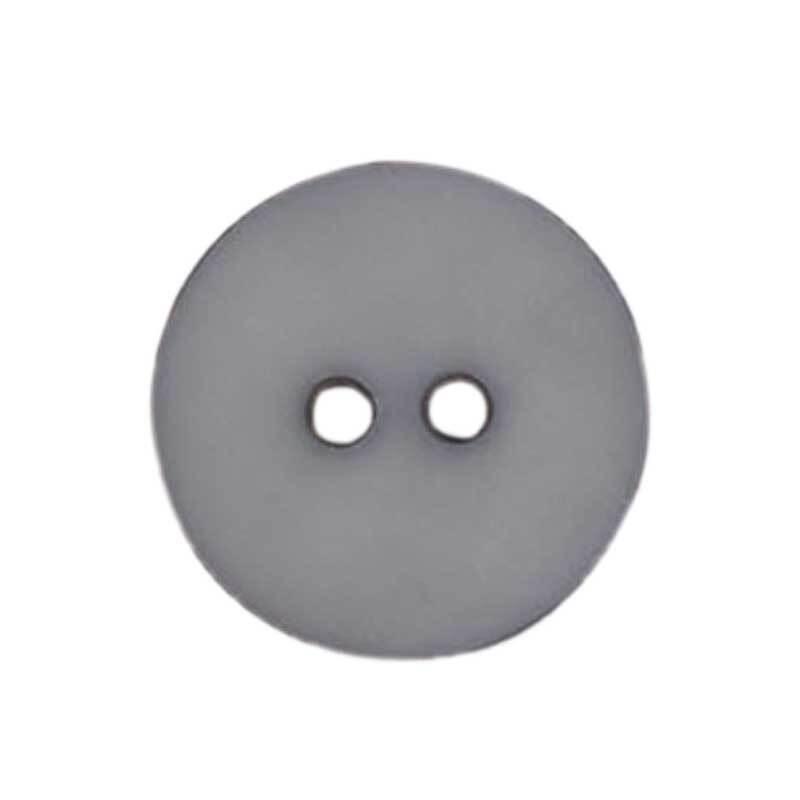 Zweilochknopf - Ø 18 mm, grau