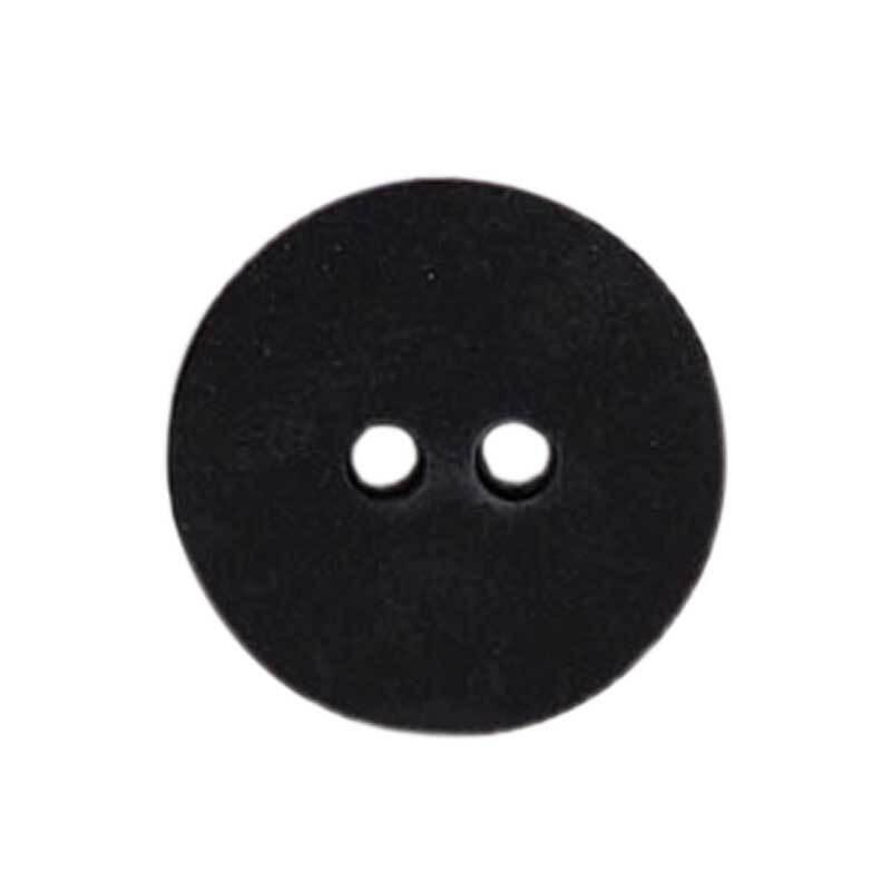 Zweilochknopf - Ø 18 mm, schwarz
