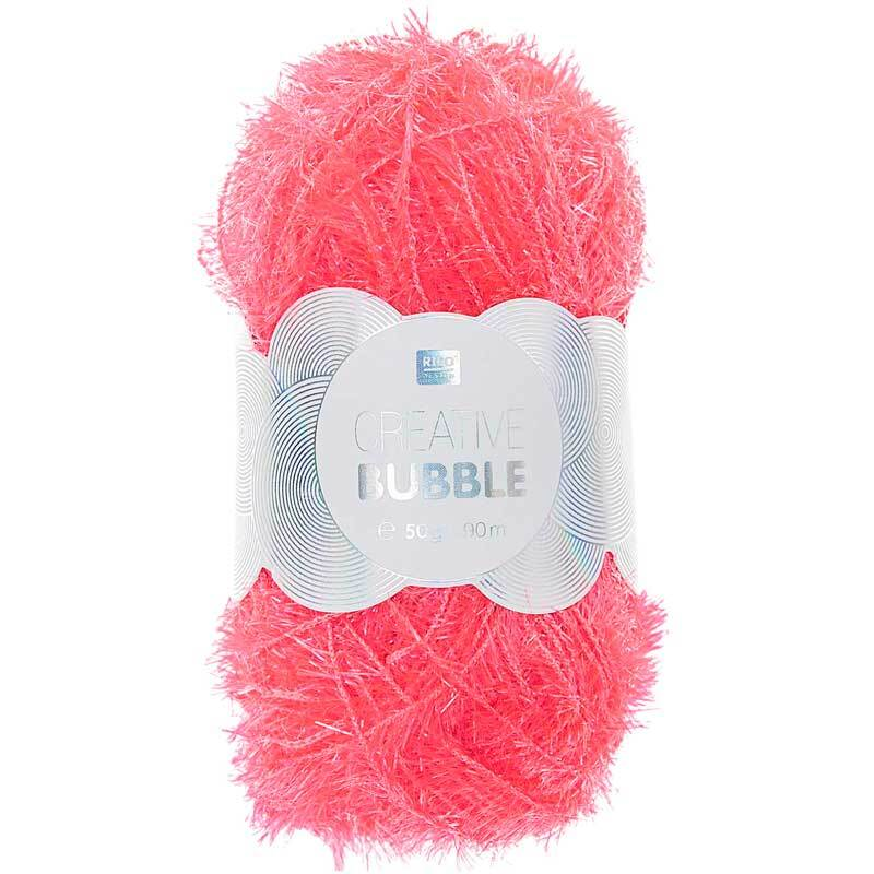 Creative Bubble Garn - 50 g, neonpink