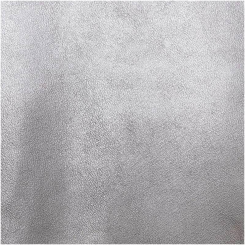 Kunstleder - 45 x 100 cm, silber metallic