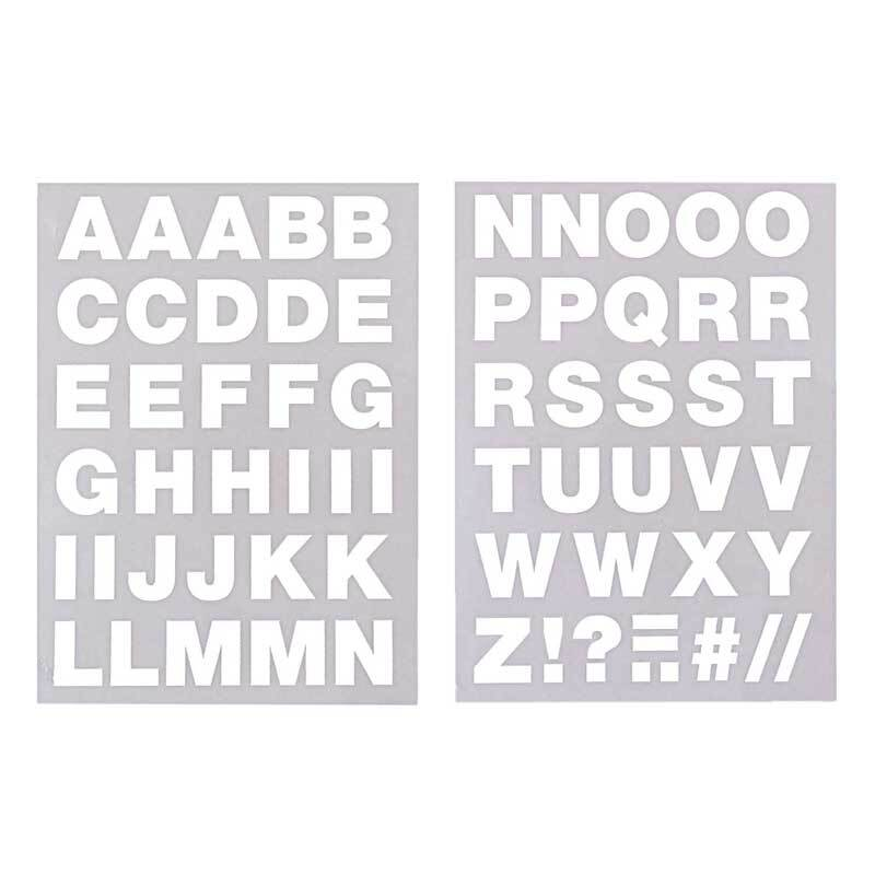 Motifs thermocollants - Lettres A-Z, blanc