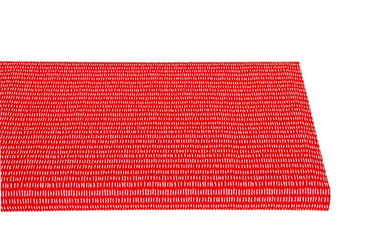 Katoenen stof - bedrukt, rood/witte strepen