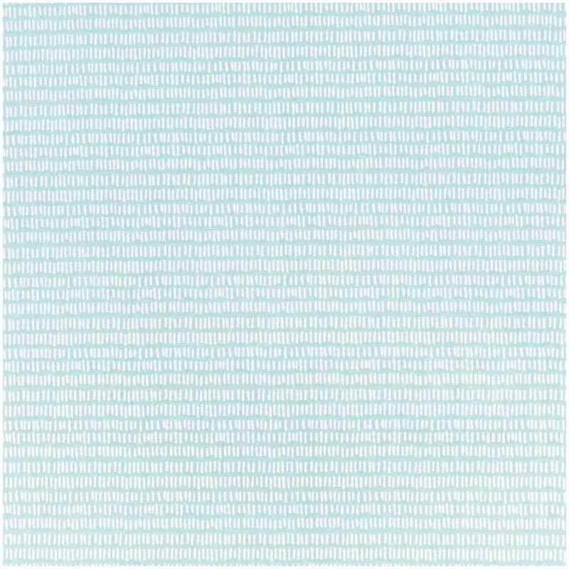 Katoenen stof - bedrukt, turkoois/witte strepen