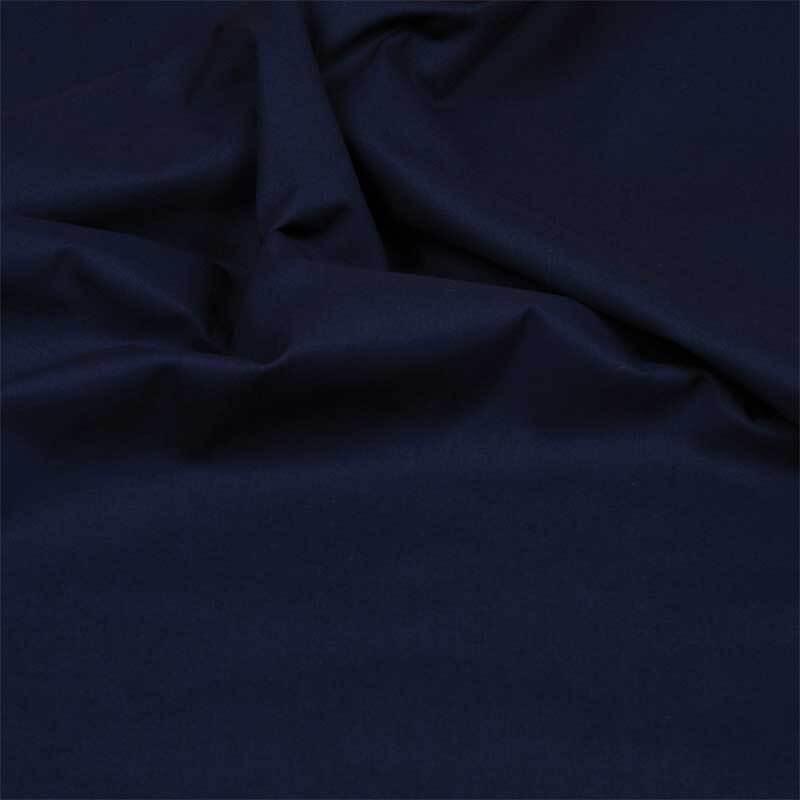 Katoenen stof - effen, marine