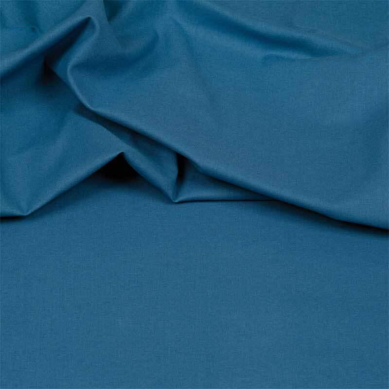 Katoenen stof - effen, middenblauw