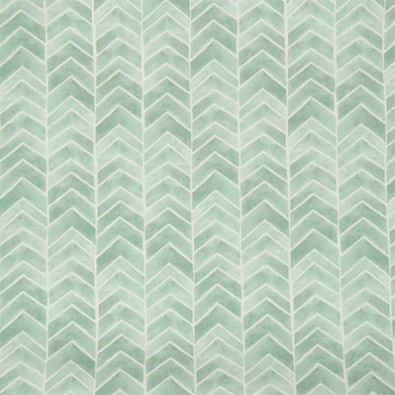 Tissu coton - à motifs, flèches menthe
