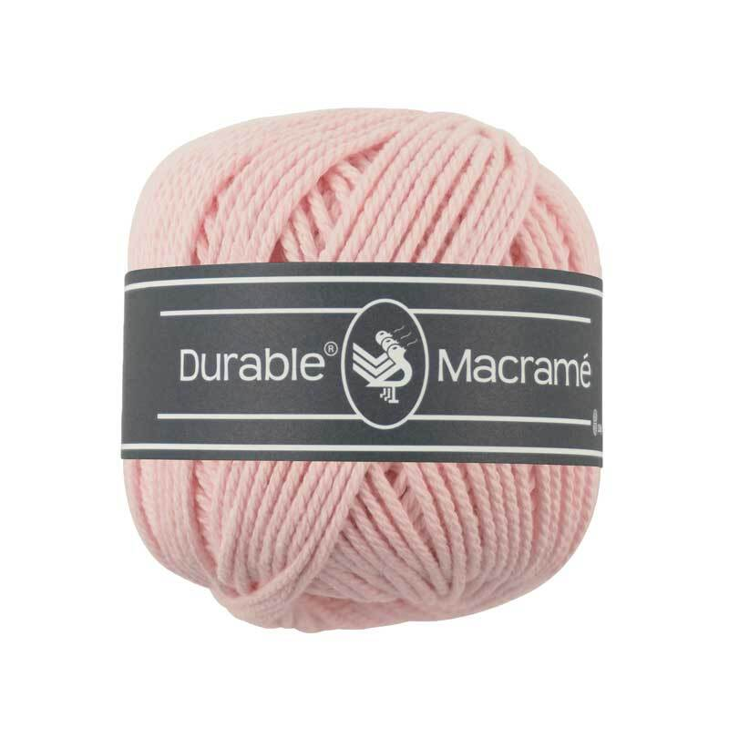 Makrameegarn Durable Macramé - Ø 2 mm, light pink