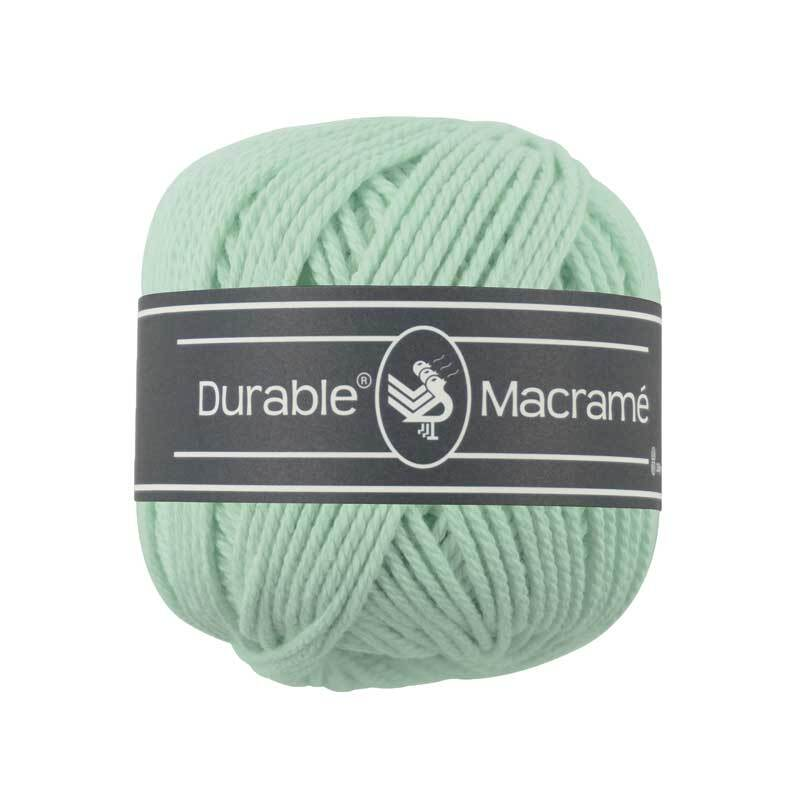 Macramé garen Durable Macramé - Ø 2 mm, mint