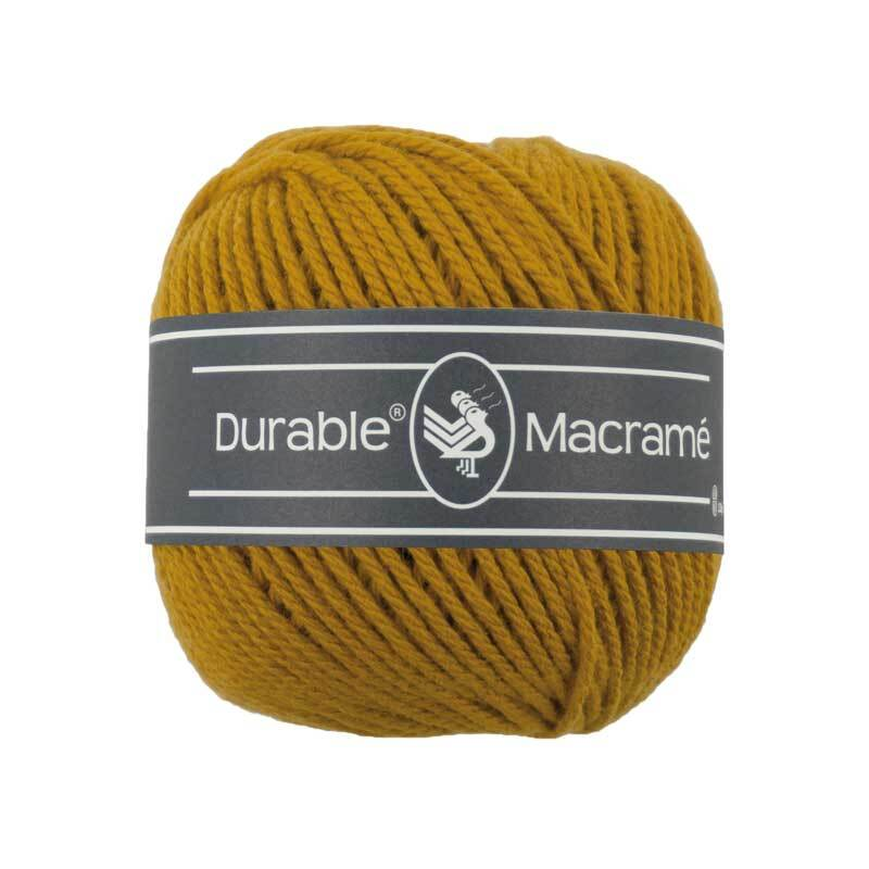 Macramé garen Durable Macramé - Ø 2 mm, curry