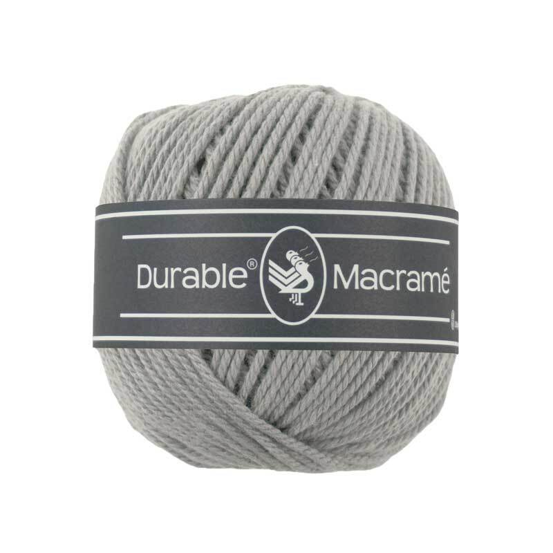 Macramé garen Durable Macramé - Ø 2 mm, light grey