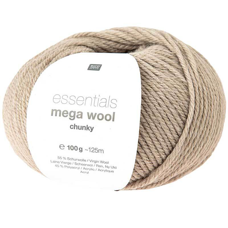 Wolle Essentials Mega Wool - 100 g, natur