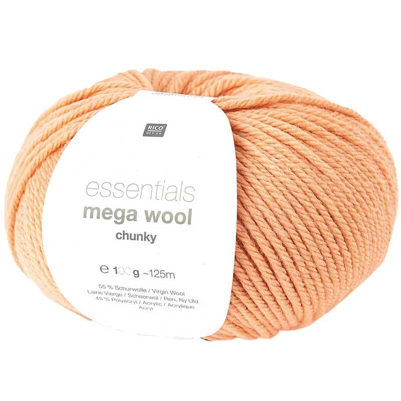 Wolle Essentials Mega Wool - 100 g, lachs