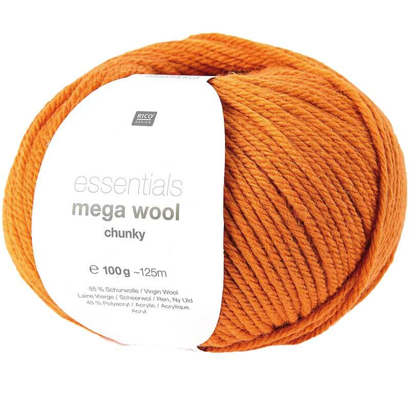 Wolle Essentials Mega Wool - 100 g, oranje