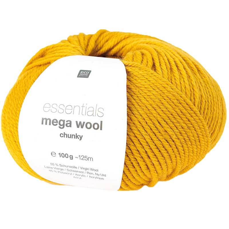 Wolle Essentials Mega Wool - 100 g, senf