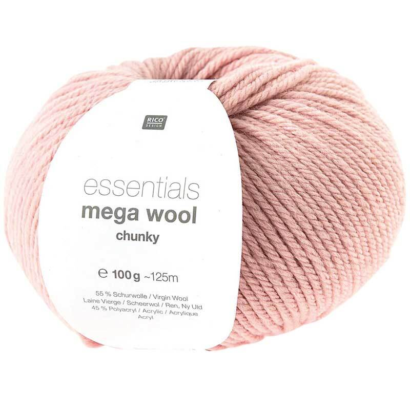 Wolle Essentials Mega Wool - 100 g, roze