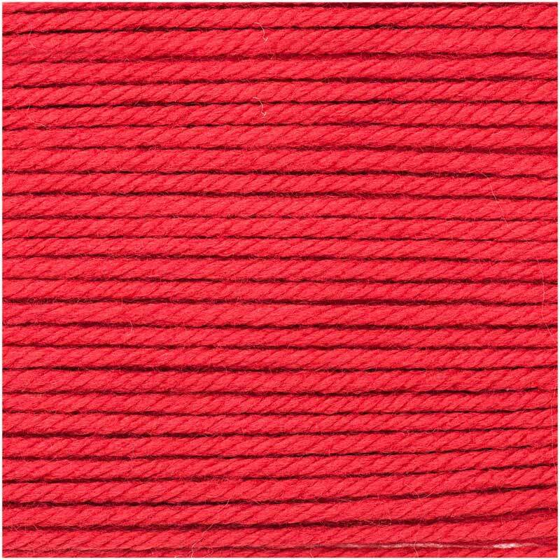 Wolle Essentials Mega Wool - 100 g, rot