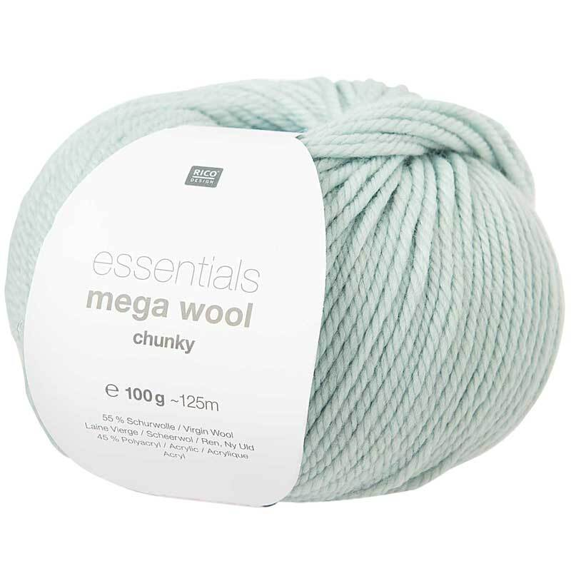 Wolle Essentials Mega Wool - 100 g, mint