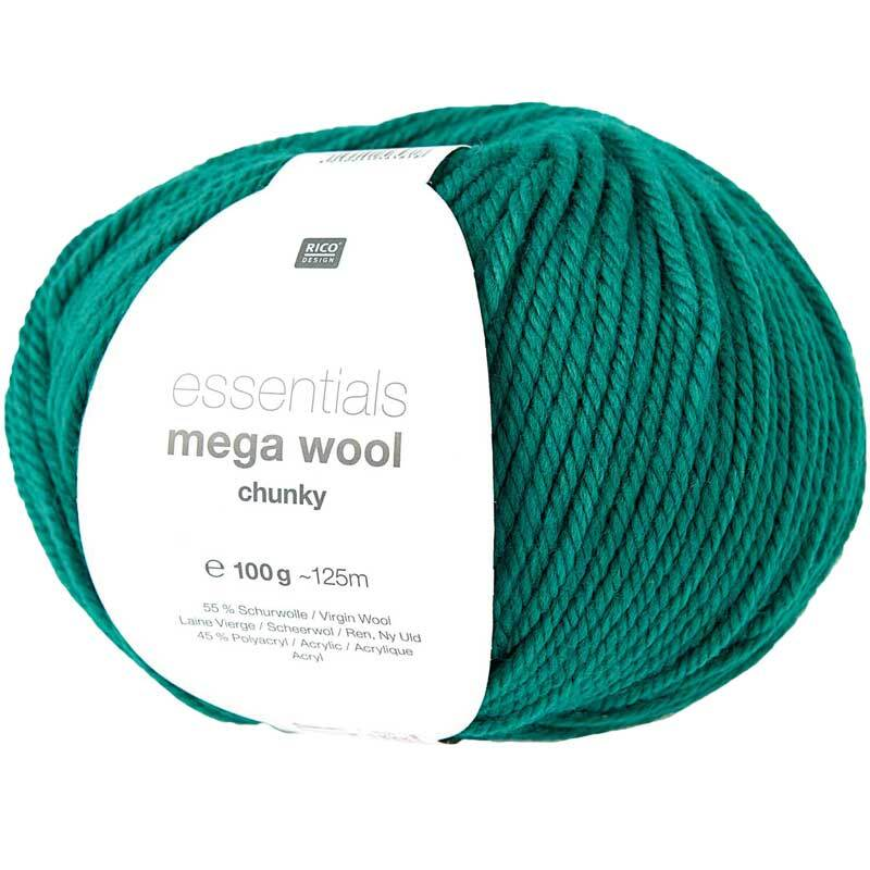 Wolle Essentials Mega Wool - 100 g, grün