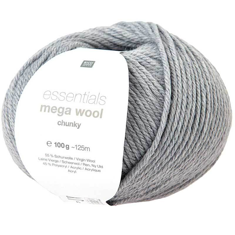 Wolle Essentials Mega Wool - 100 g, lichtblauw