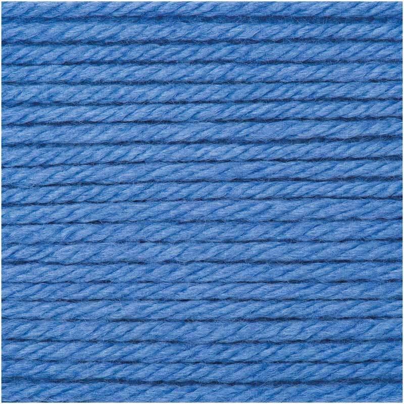 Wolle Essentials Mega Wool - 100 g, azuur