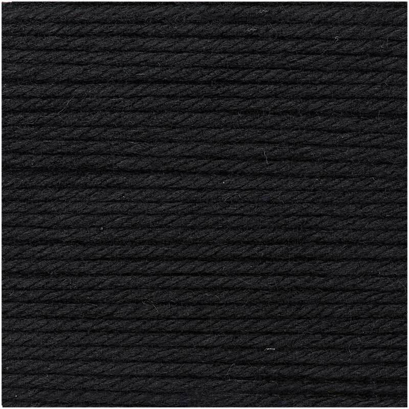 Wolle Essentials Mega Wool - 100 g, schwarz