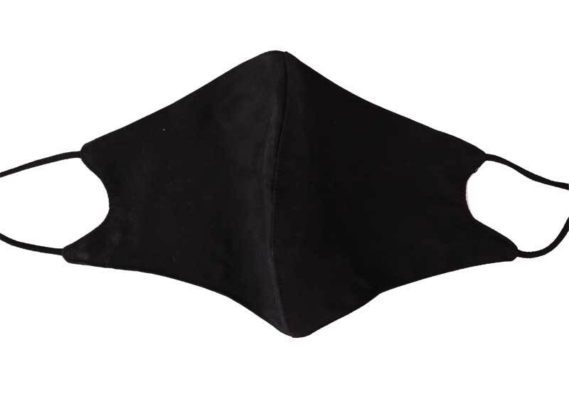 Masque de protection en coton - ajustable, noir