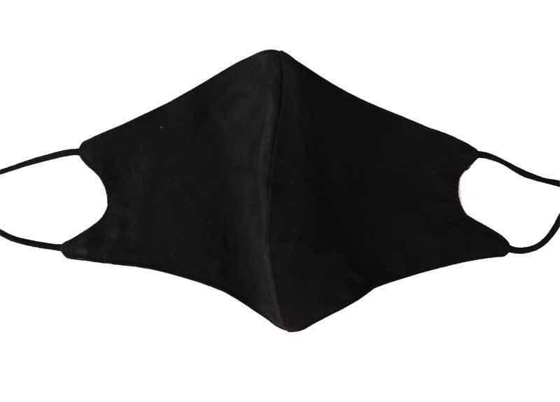 Schutzmaske Baumwolle - größenverstellbar, schwarz