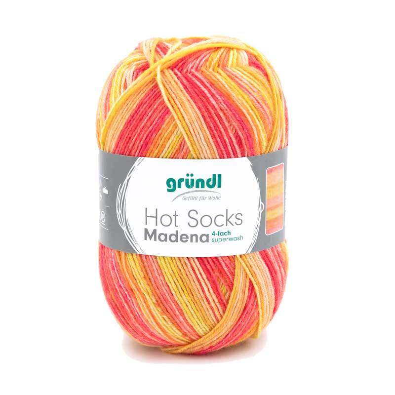 Sokkenwol Hot Socks Gardola - 100 g, sunrise