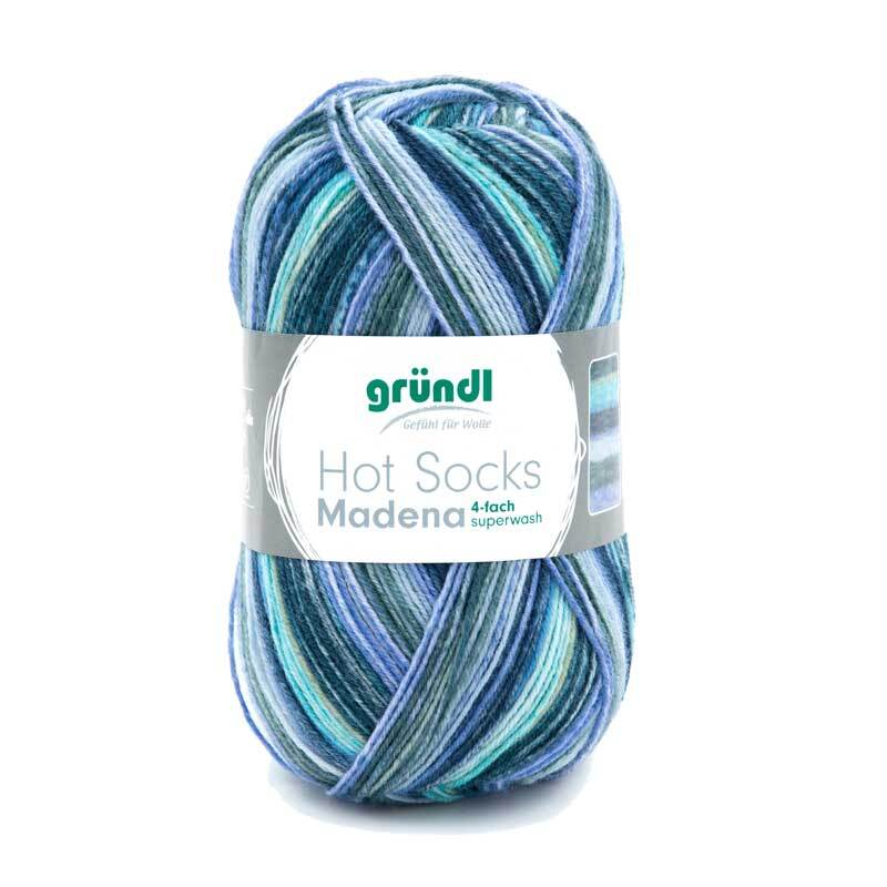 Sokkenwol Hot Socks Gardola - 100 g, baltic