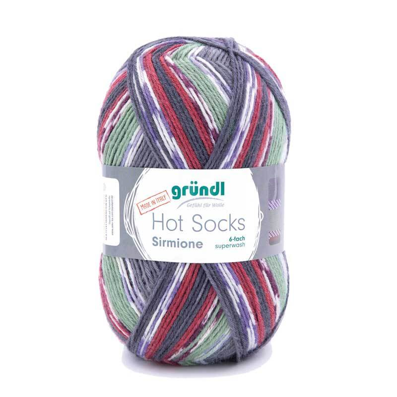 Sockenwolle Hot Socks Sirmione - 150 g, passion