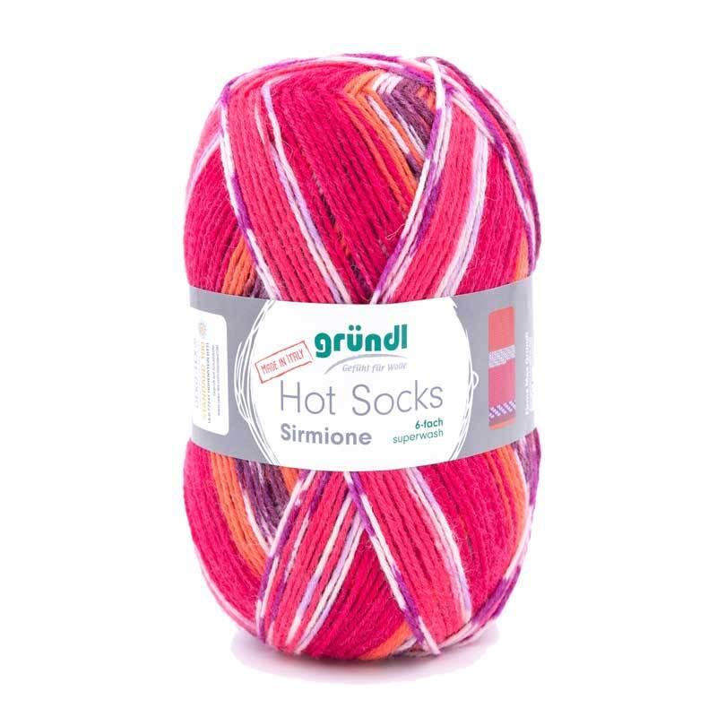 Sockenwolle Hot Socks Sirmione - 150 g, cabernet