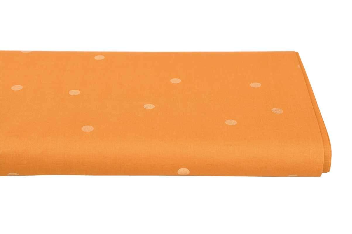 Baumwollstoff - hotfoil, senf/Punkte gold