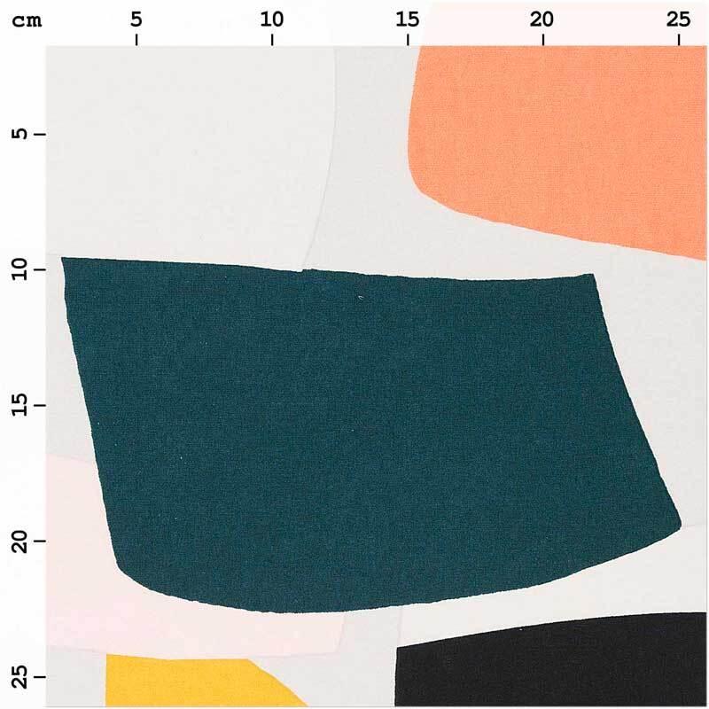 Baumwollstoff - bedruckt, graf. Muster neon
