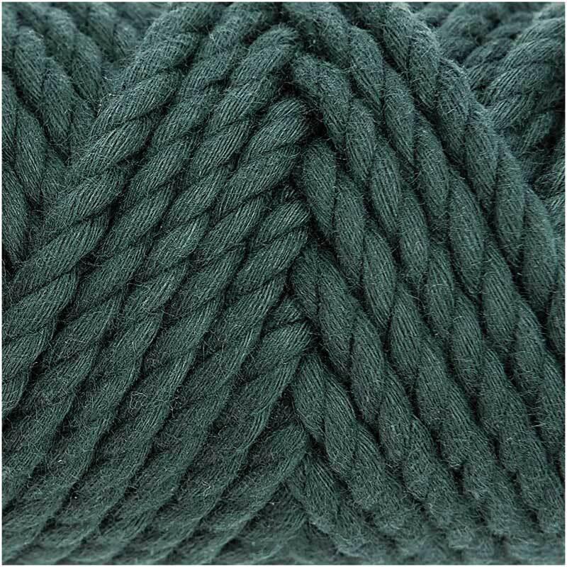 Makrameekordel Cotton Cord - Ø 5 mm, petrol