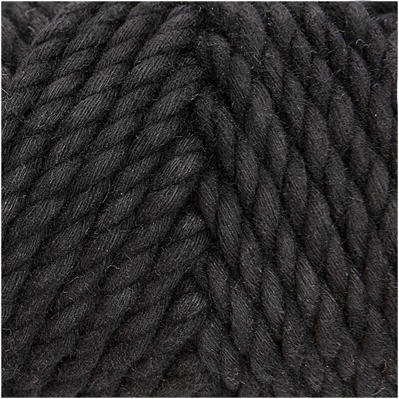 Makrameekordel Cotton Cord - Ø 5 mm, schwarz