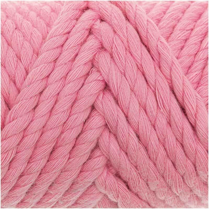 Macramé koord - Cotton Cord - Ø 5 mm, roze