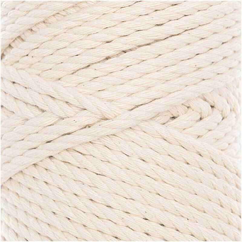 Makrameekordel Cotton Cord Skinny - Ø 3 mm, natur