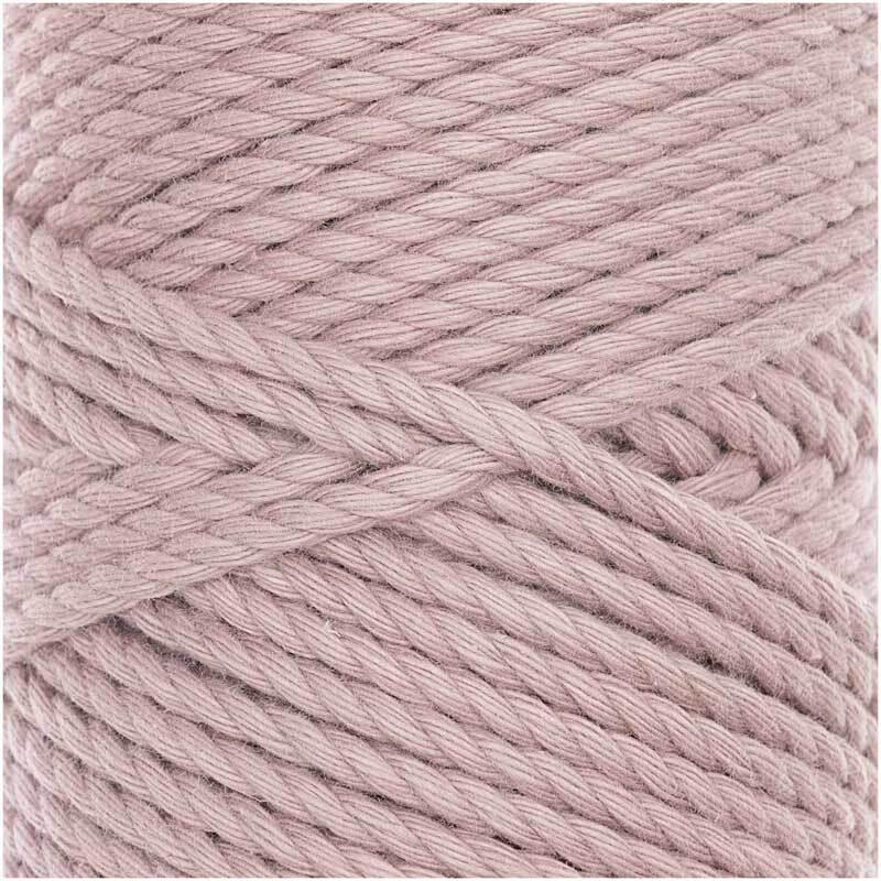 Makrameekordel Cotton Cord Skinny - Ø 3 mm, staub